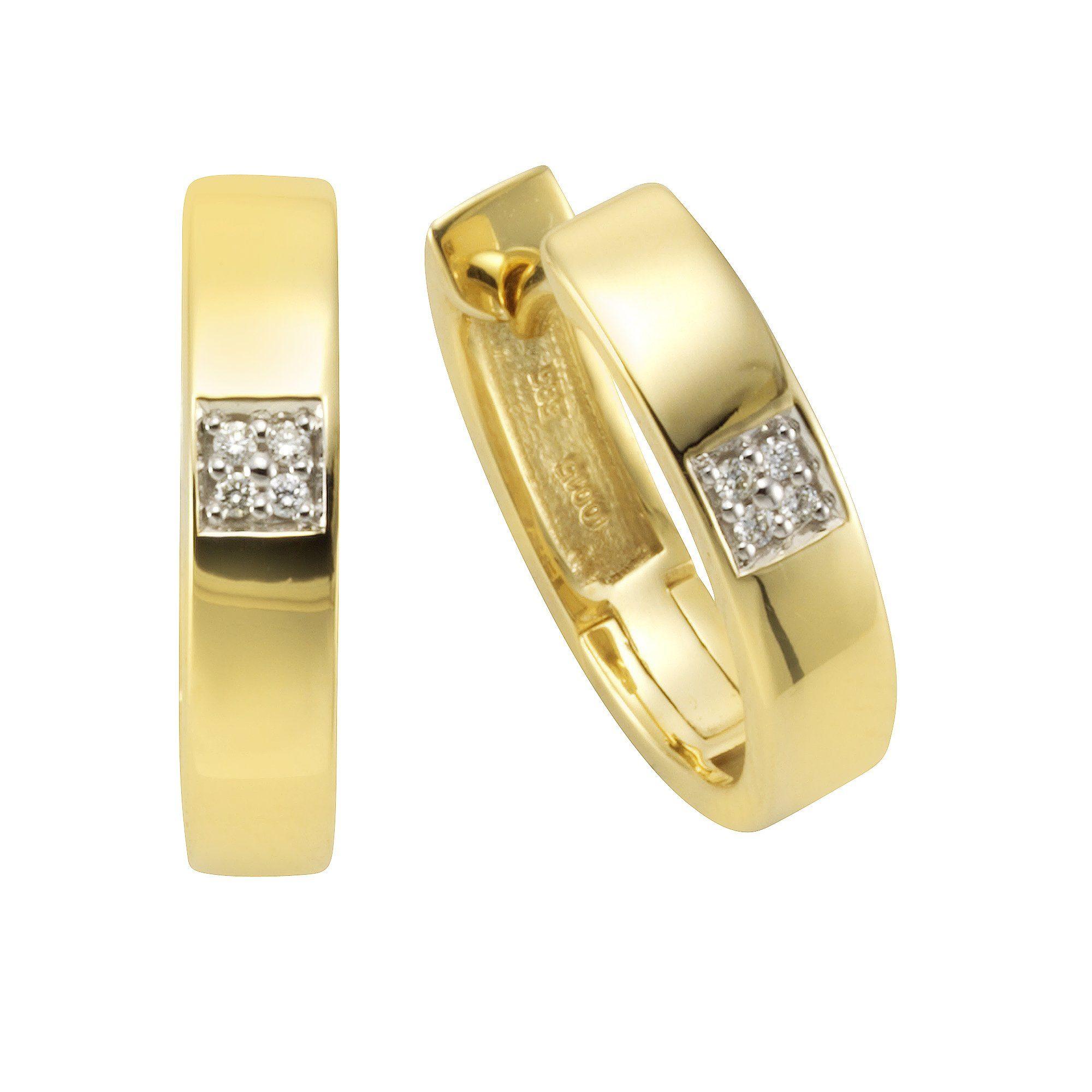 Orolino Creolen »585/- Gelbgold Brillant«