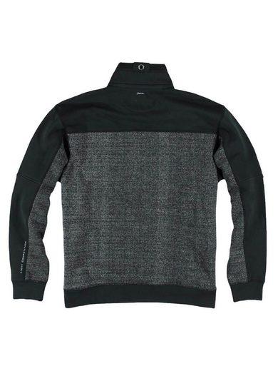 engbers Sweatshirt im Materialmixdesign