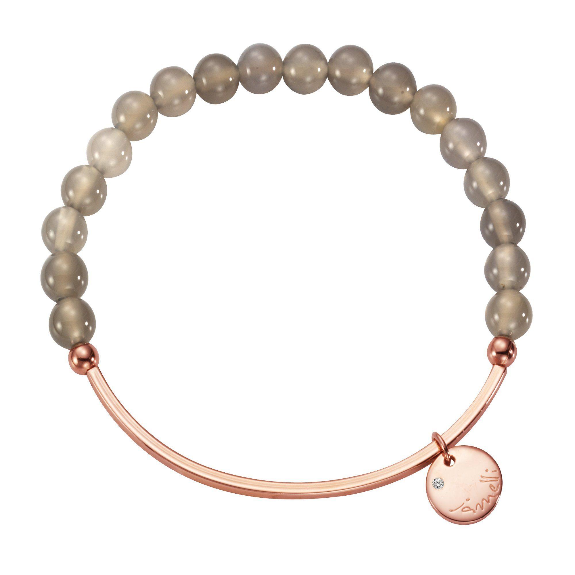 Jamelli Armband »925/- Sterling Silber Achat grau«