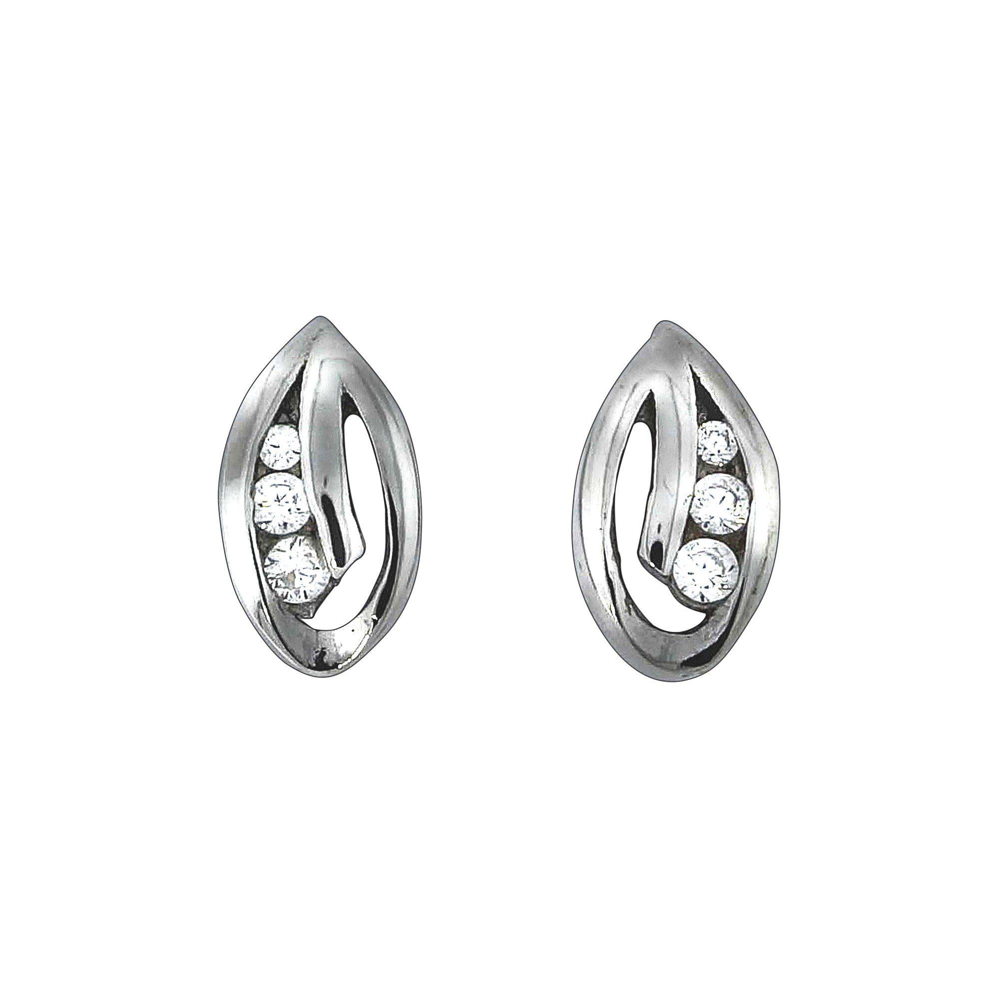 Firetti Ohrstecker »925/- Sterling Silber rhod. 6x Zirkonia«
