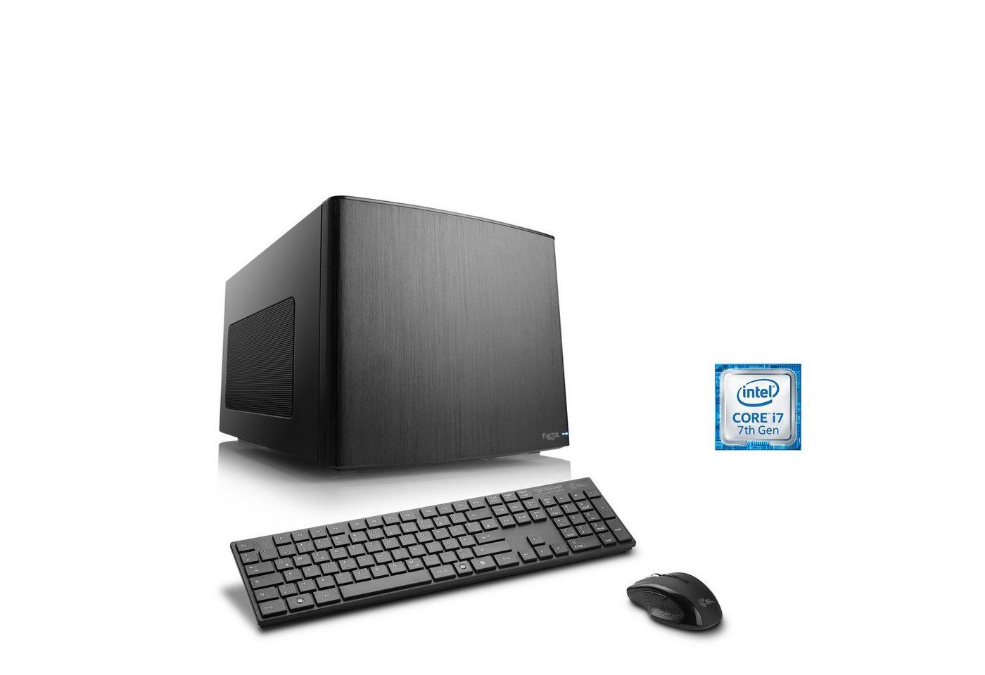 CSL Mini-ITX PC | Core i7-7700K | GTX 1080 Ti | 16 GB DDR4 | SSD »Gaming Box T7681 Wasserkühlung« - Preisvergleich