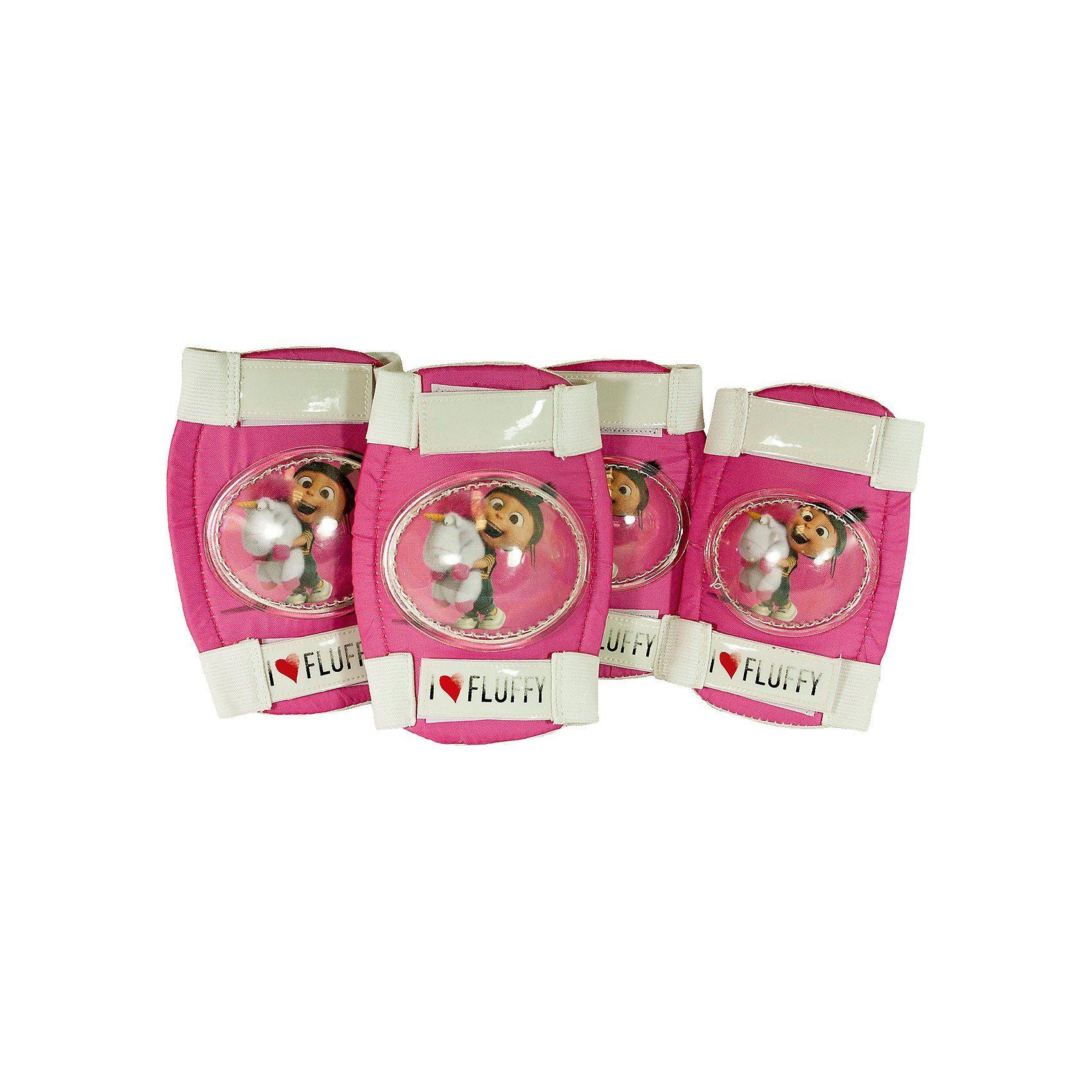Minions Knie- und Ellenbogenchoner, pink