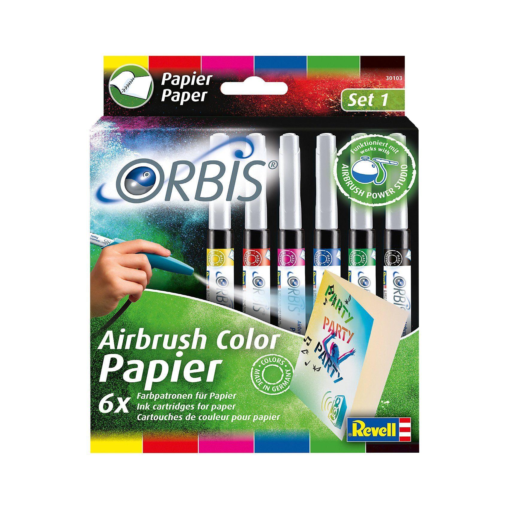 Revell Orbis 30103 Airbrush Papierpatronen Standardfarben, 6 Stück