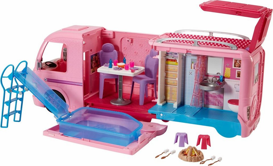 mattel puppen wohnwagen barbie super abenteuer camper. Black Bedroom Furniture Sets. Home Design Ideas