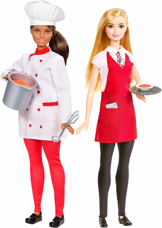 Mattel 2er Set Karriere Puppen, »Barbie Köchin und Kellnerin«