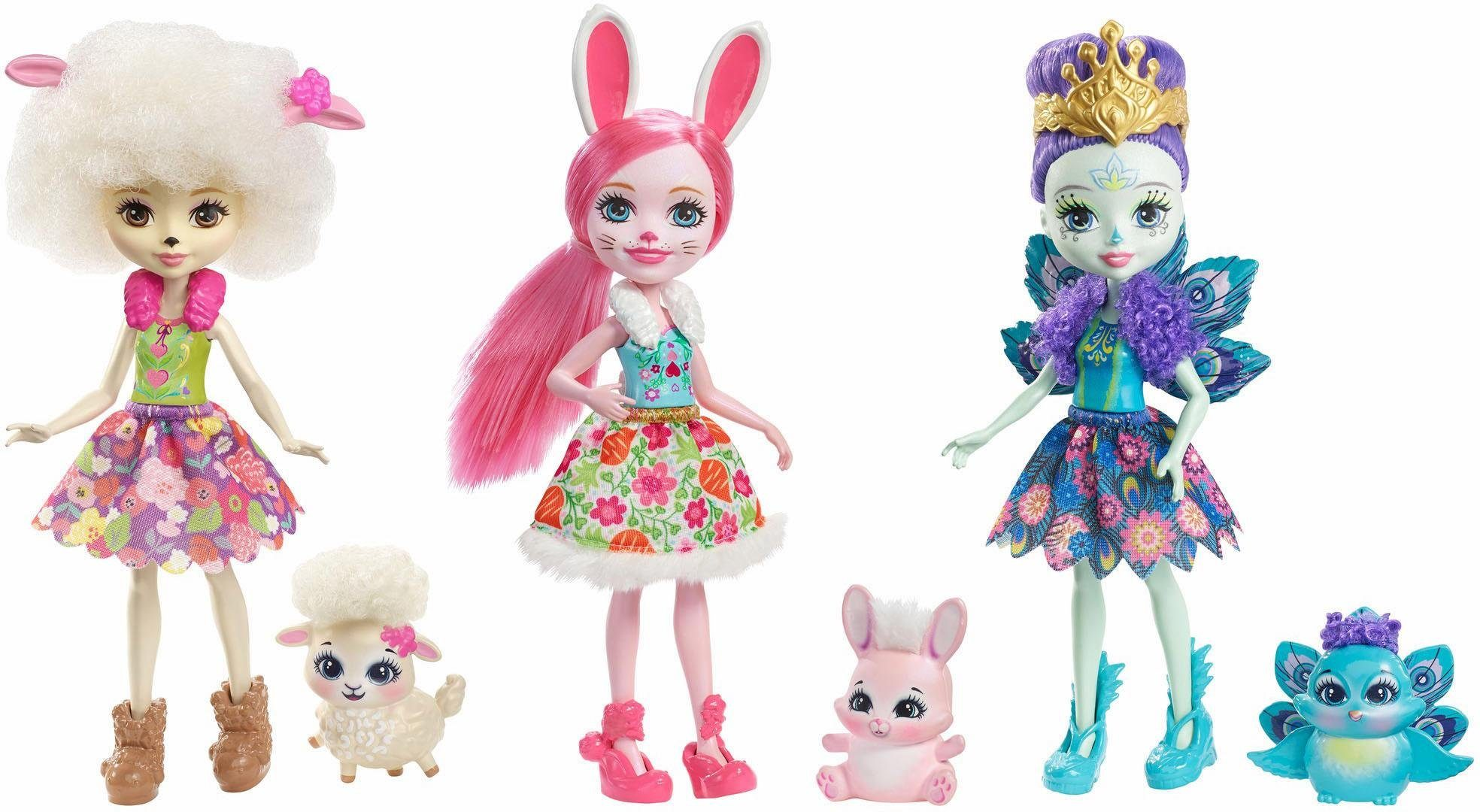 Mattel Puppenset, »Enchantimals 3er Pack Freunde«