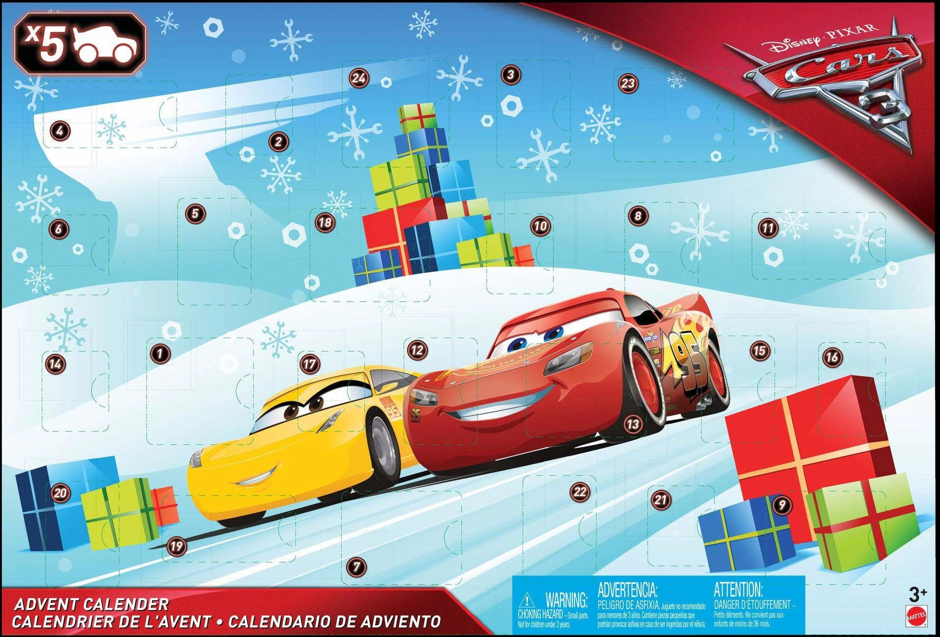 Mattel Adventskalender, »Disney Pixar Cars 3«