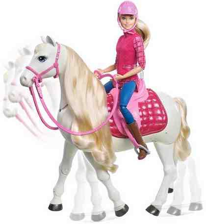 Mattel Puppe mit interaktivem Pferd, »Barbie Traumpferd «