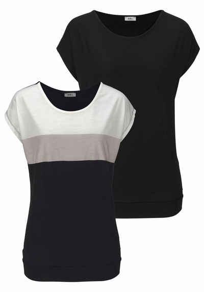 Flashlights Oversize-Shirt (Packung, 2er-Pack)
