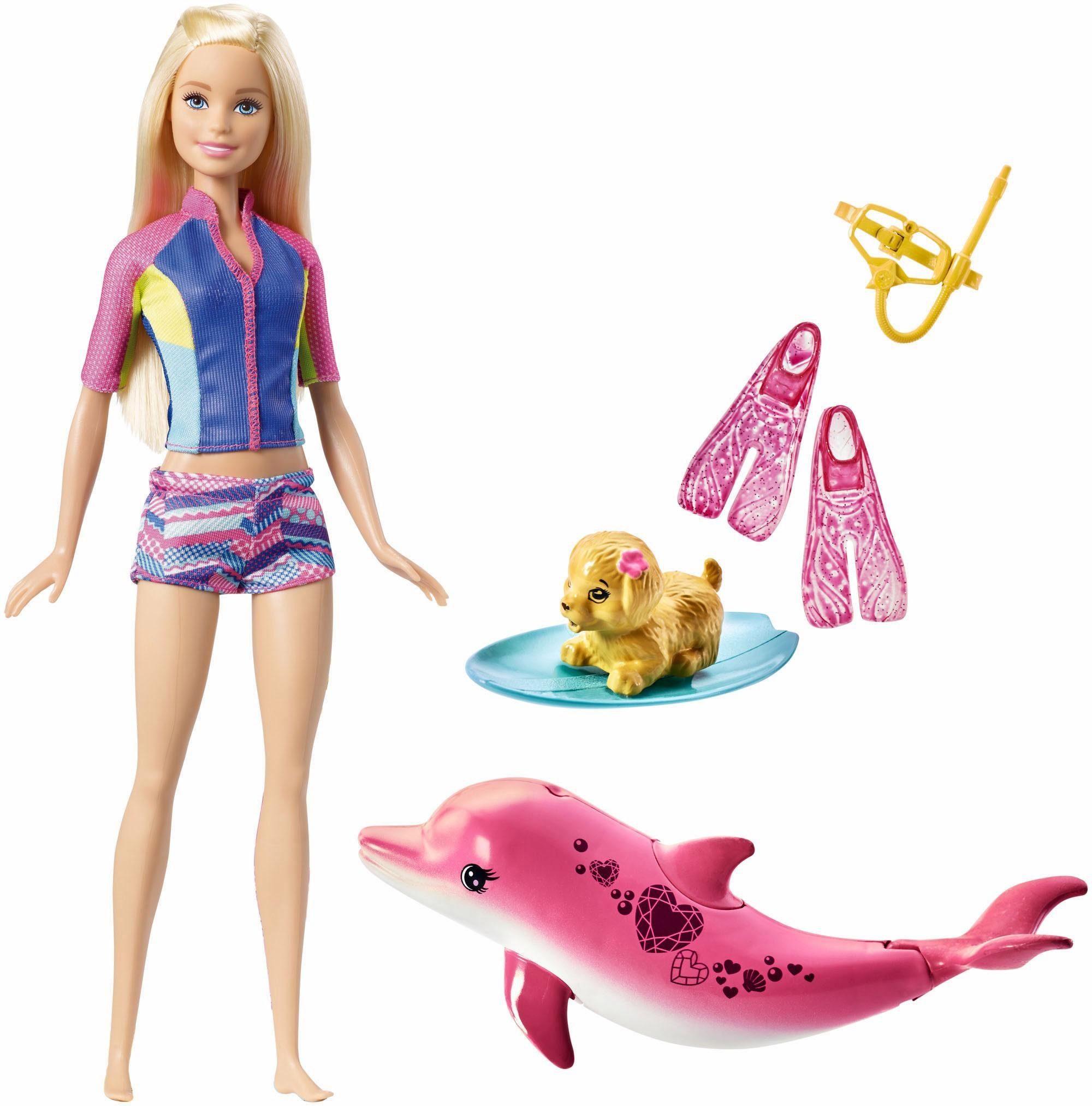 Mattel Puppe mit Spielset, »Barbie Magie der Delfine, Tierische Freunde«
