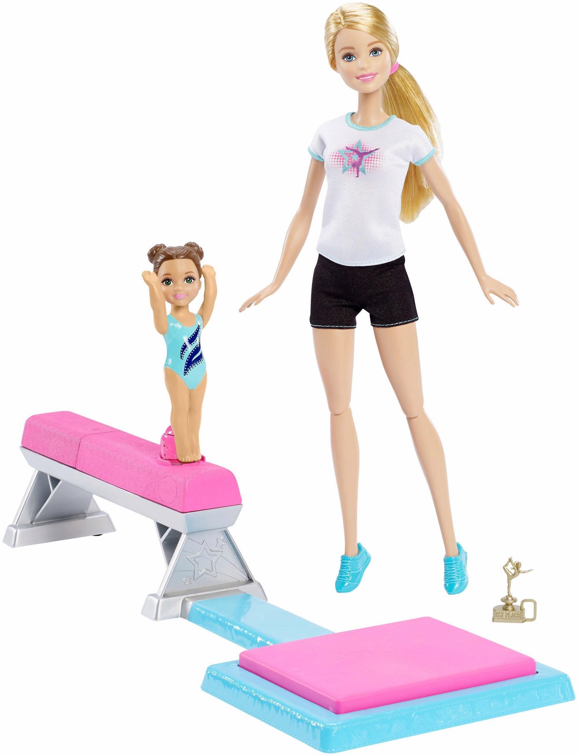 Mattel Puppen mit Spielset , »Barbie Kunstturnen Schwebebalken«
