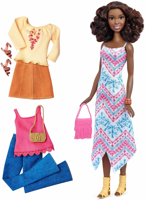 Mattel Puppe, »Barbie Fashionistas Style Puppe und Moden mit Fransentasche«
