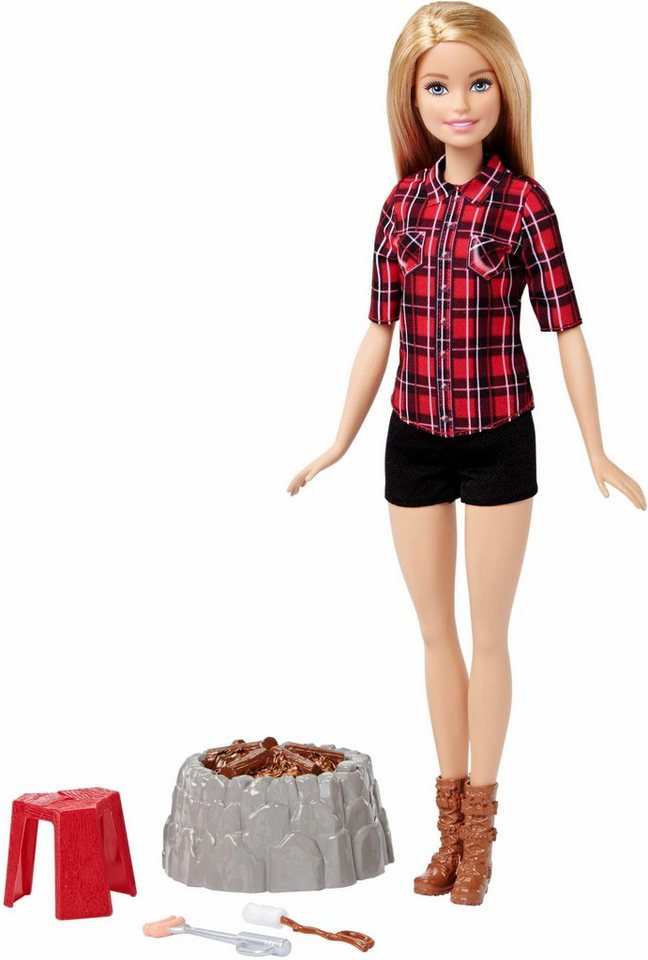 mattel puppe mit spielset barbie lagerfeuer otto. Black Bedroom Furniture Sets. Home Design Ideas