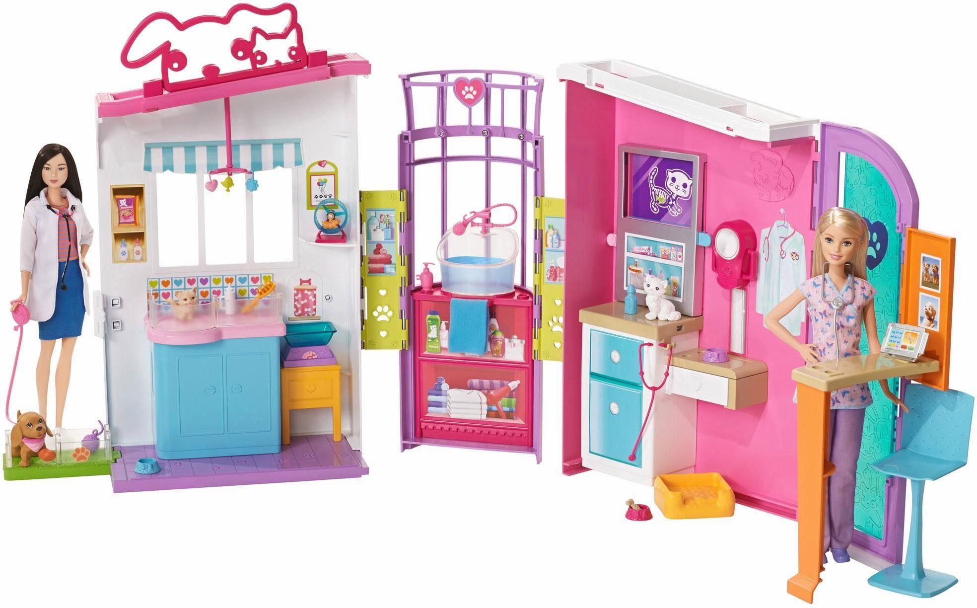 Mattel Aufklappbares Spielhaus für Puppen, »Barbie Tierklinik«