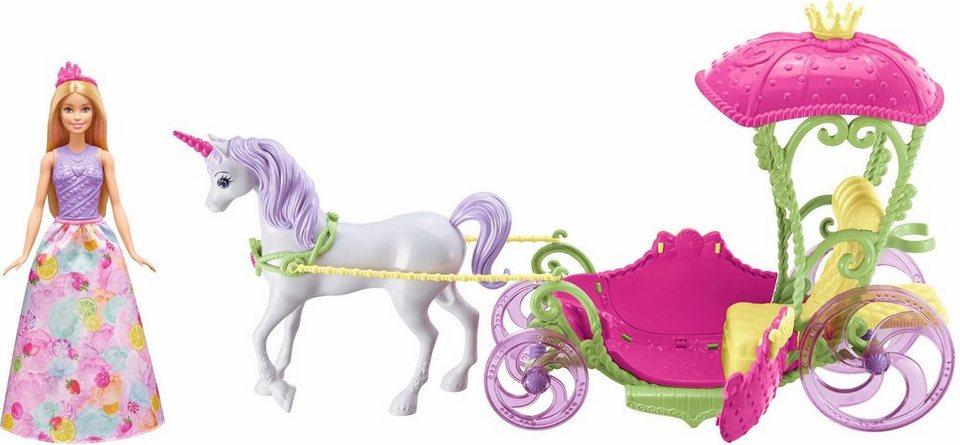 mattel puppen kutsche barbie bonbon prinzessin einhorn. Black Bedroom Furniture Sets. Home Design Ideas