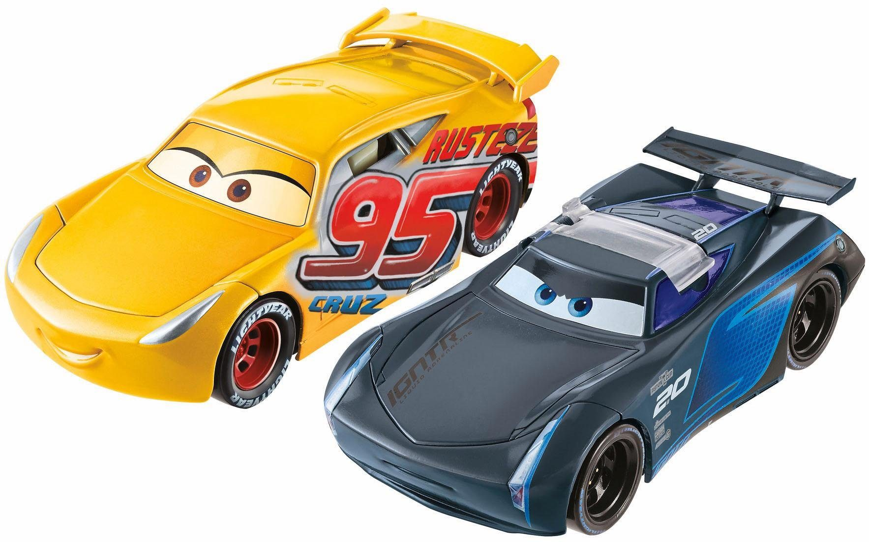 Mattel Spielzeugautoset , »Disney Pixar Cars 3 Überschlag Zielrennen«