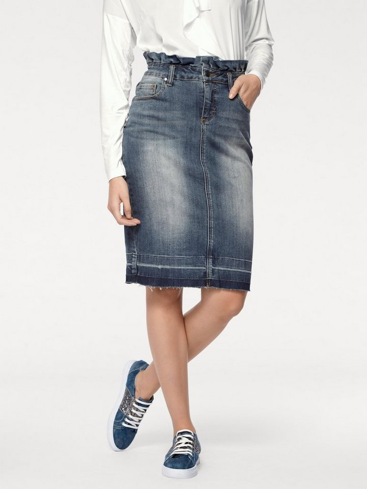 6875b5ee767d B.C. BEST CONNECTIONS by Heine Jeansrock im Used-Look online kaufen | OTTO