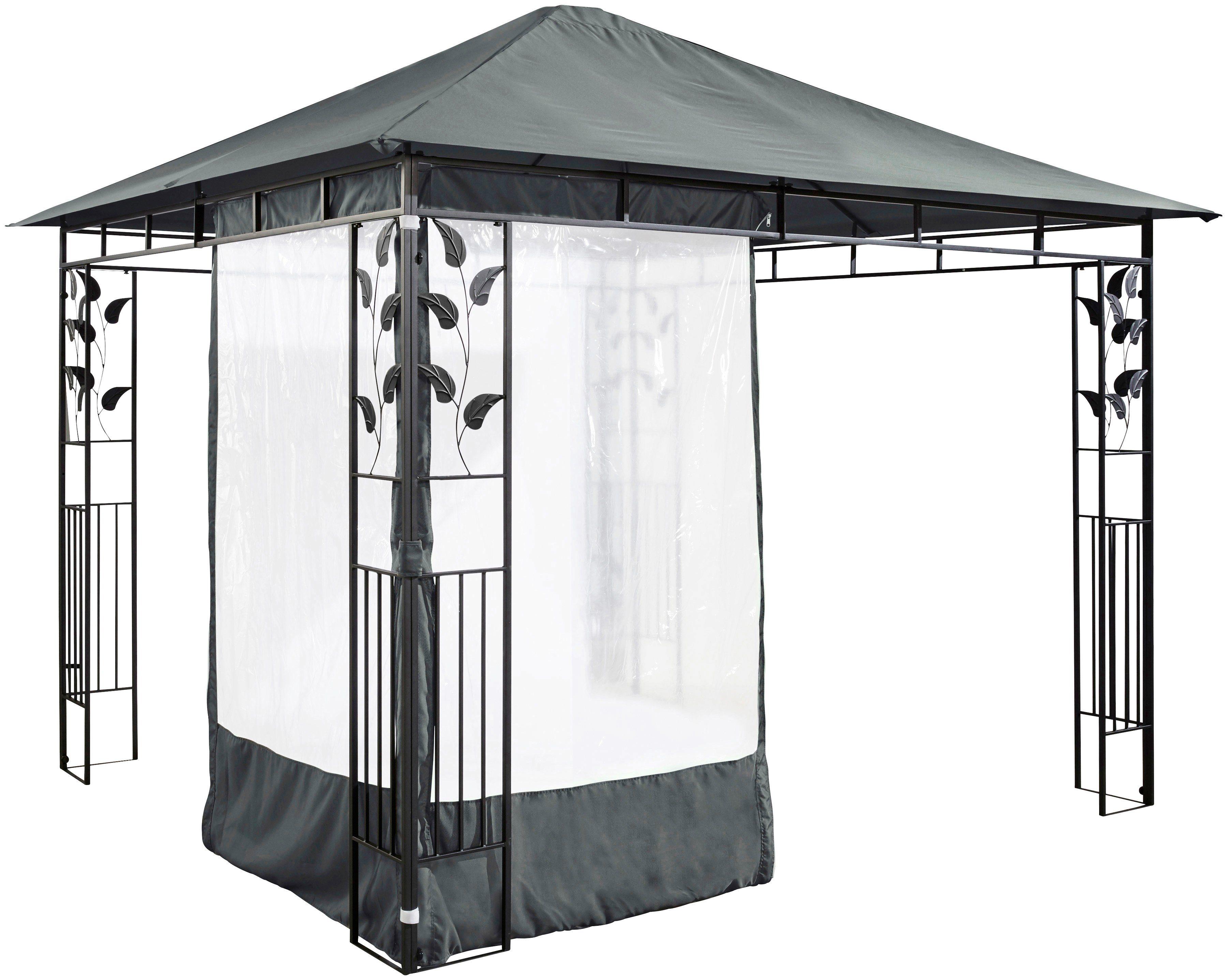 Seitenteile für Pavillon »Salina 1«, für 3x3 m Pavillon, anthrazit