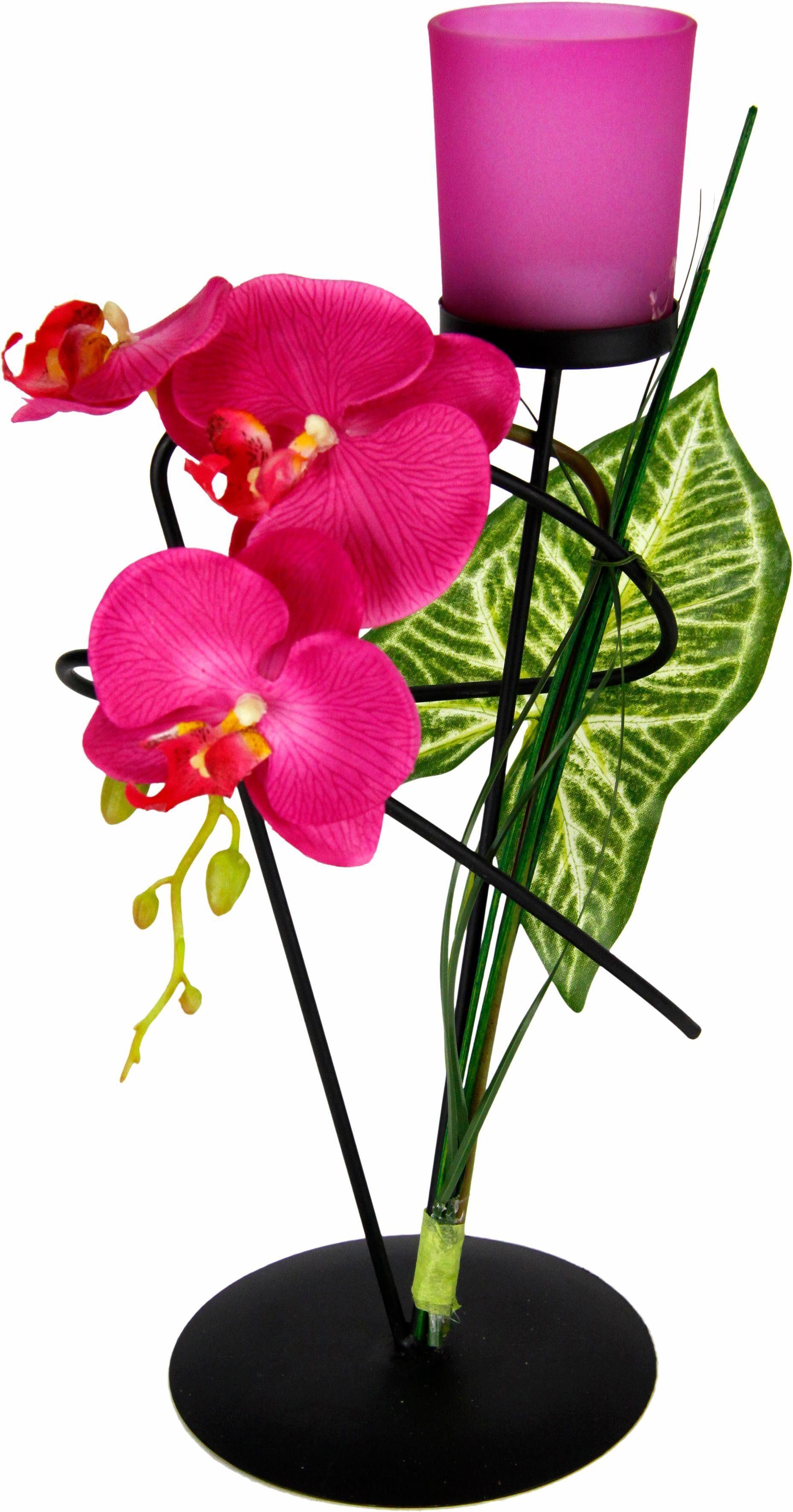 Teelichthalter »Orchidee«