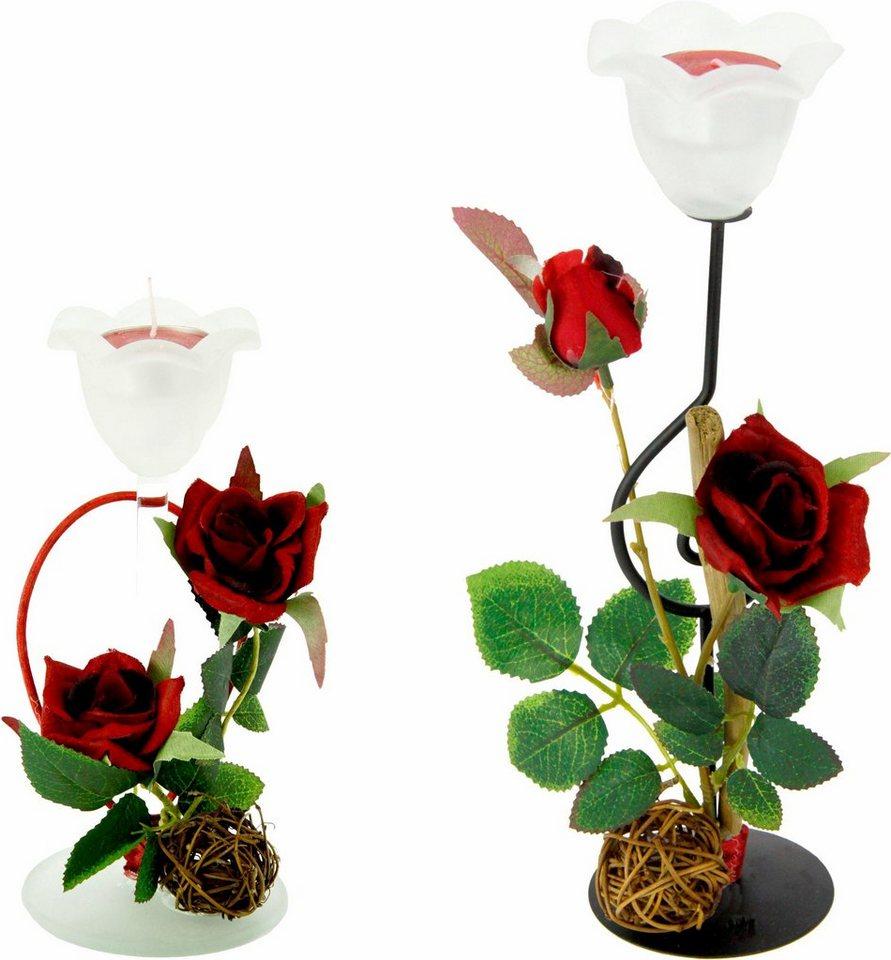 teelichthalter set rose 2er set online kaufen otto. Black Bedroom Furniture Sets. Home Design Ideas