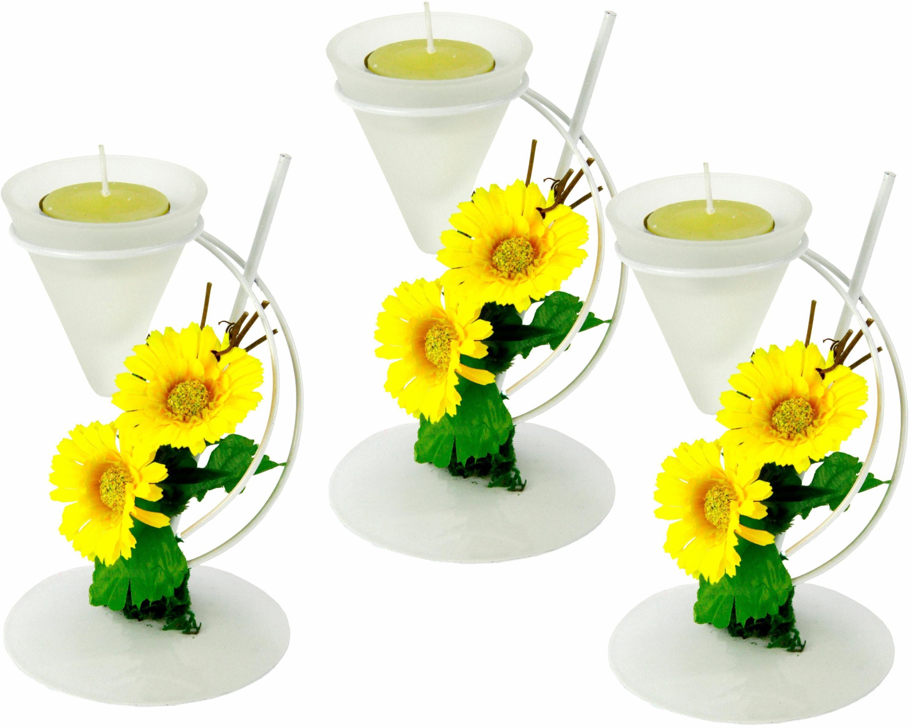 Teelichthalter »Gerbera« (3er Set)