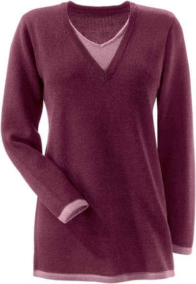 detaillierte Bilder verschiedenes Design Luxus-Ästhetik Longpullover in großen Größen » Pullover für Mollige kaufen ...