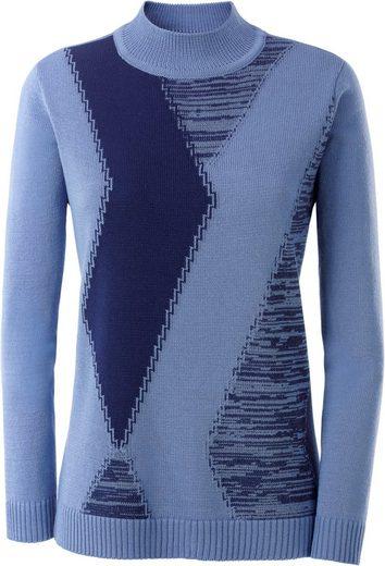 Classic Pullover aus attraktivem Intarsien-Strick