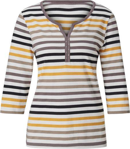 Collection L Shirt im hochwertig garngefärbten Streifenmuster