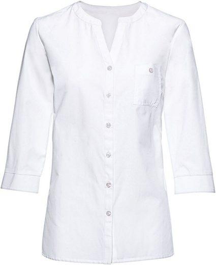 Classic Basics Bluse mit Seitenschlitze