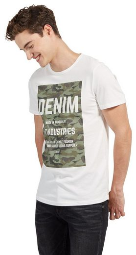 Tom Tailor Denim T-Shirt mit Camouflage-Print