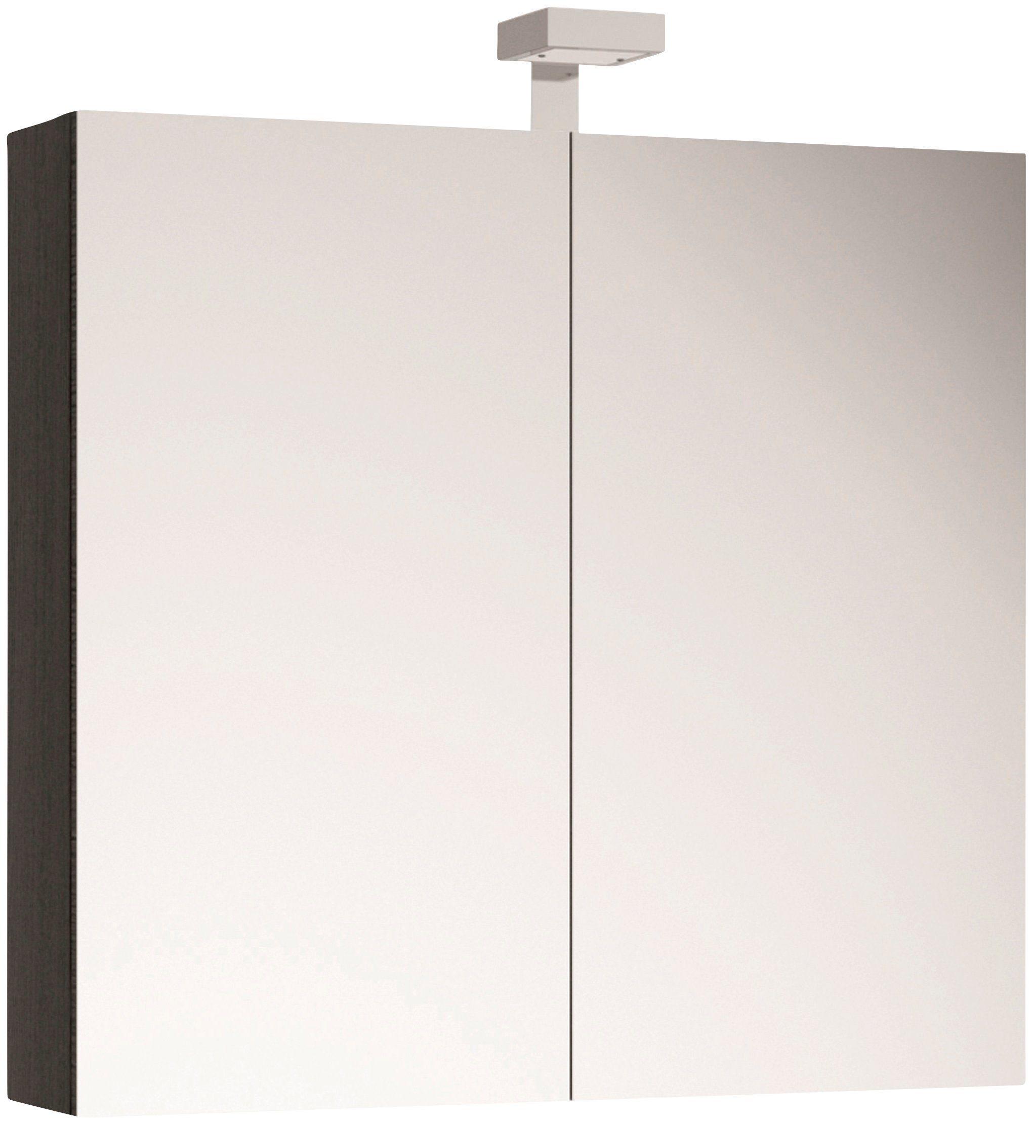 ALLIBERT Spiegelschrank , Breite 80 cm mit LED-Beleuchtung