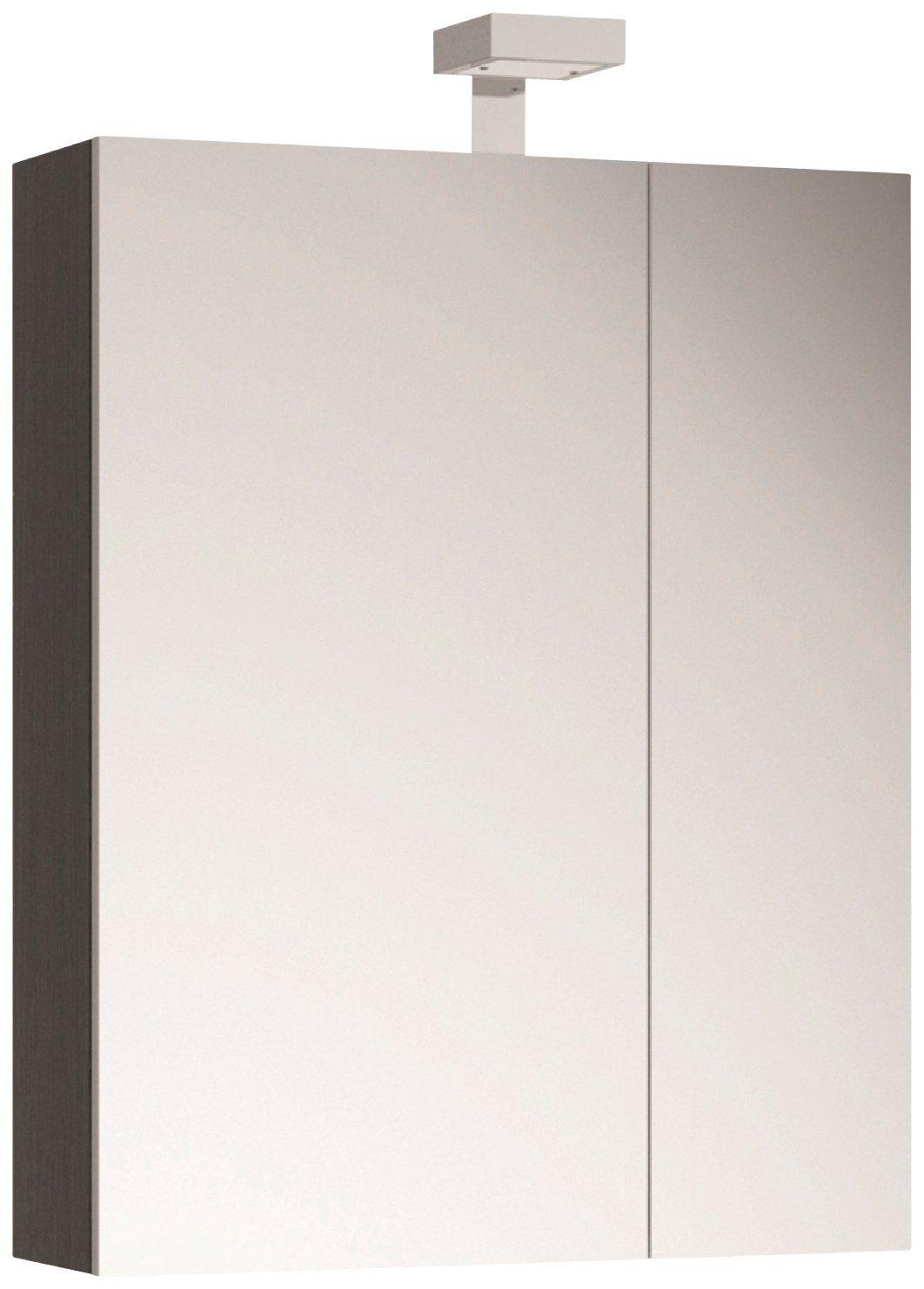 ALLIBERT Spiegelschrank »Eiche grau«, Breite 60 cm, mit LED-Beleuchtung