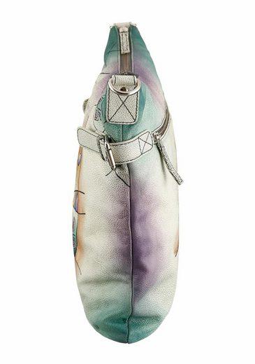 Art & Craft Umhängetasche, aus Leder mit Reißverschluss-Innenfach