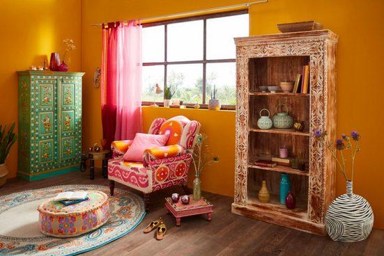 Home affaire Beistelltisch »Bajo«  aus massivem Mangoholz  mit besonderen Verzierungen auf der Oberfläche  Breite 40 cm