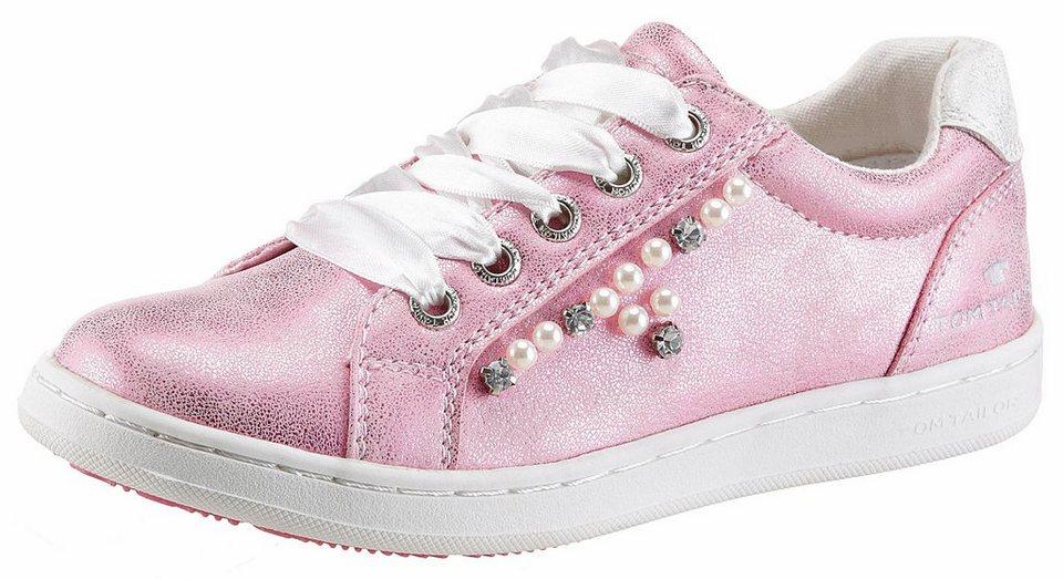 411b76d752d3fe TOM TAILOR Sneaker im Metallic-Look und mit Zierperlen verziert ...