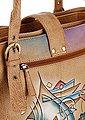 Art & Craft Henkeltasche, aus Leder mit vielen Einteilungen, Bild 6