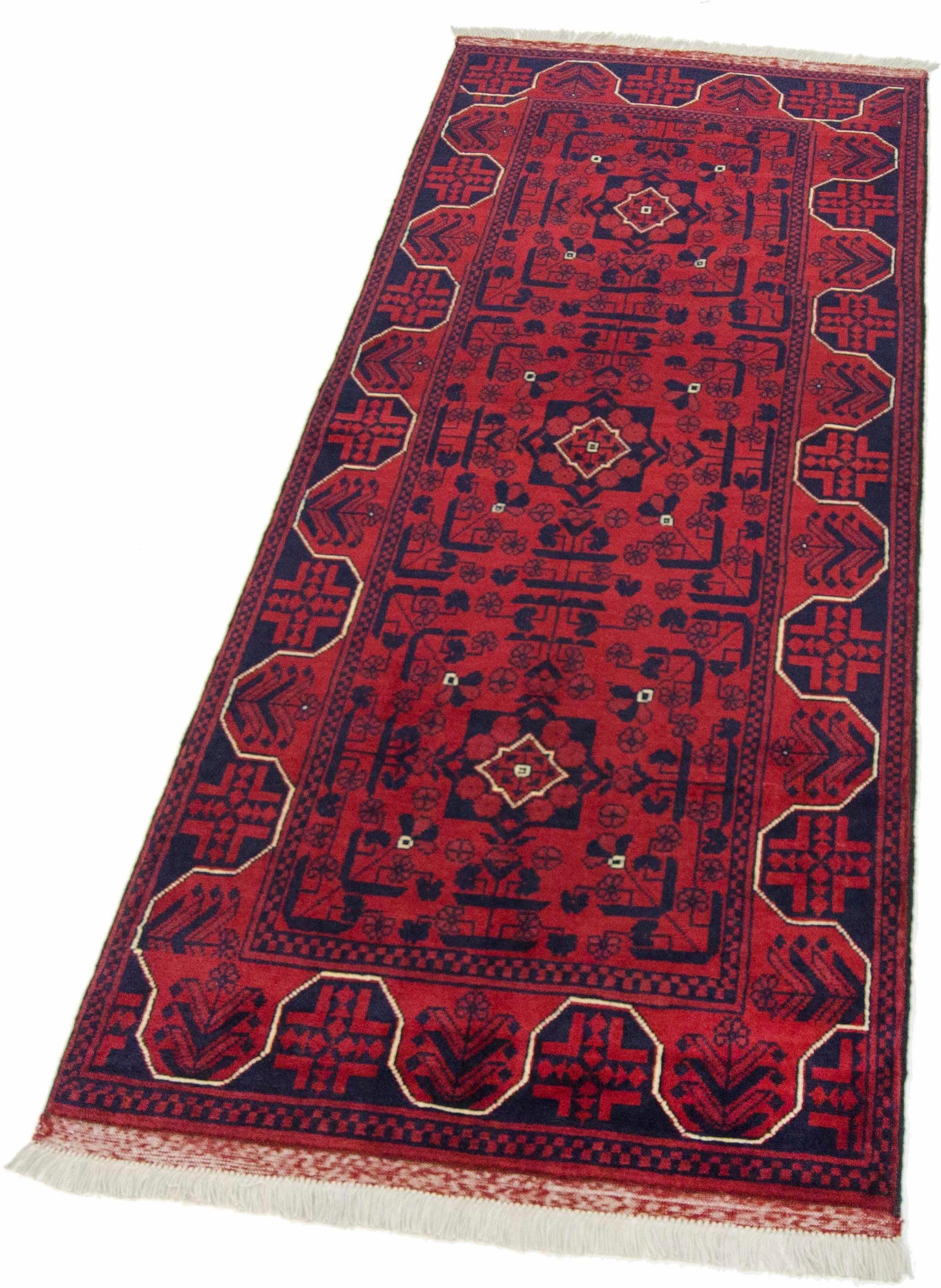 Läufer »Afghan Khal Mohammadi«, Parwis, rechteckig, Höhe 10 mm, 140.000 Knoten/m², Unikat, von Hand geknüpft