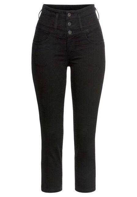 Hosen - Arizona 7 8 Jeans »mit extra breitem Bund« High Waist › schwarz  - Onlineshop OTTO