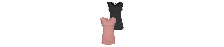 LASCANA Shirts (2 Stück) mit Volants an den Armausschnitten Erscheinungsdaten Online mT67NVGk8R