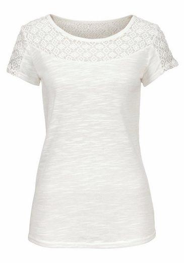 Vivance Shirt mit weicher Spitze