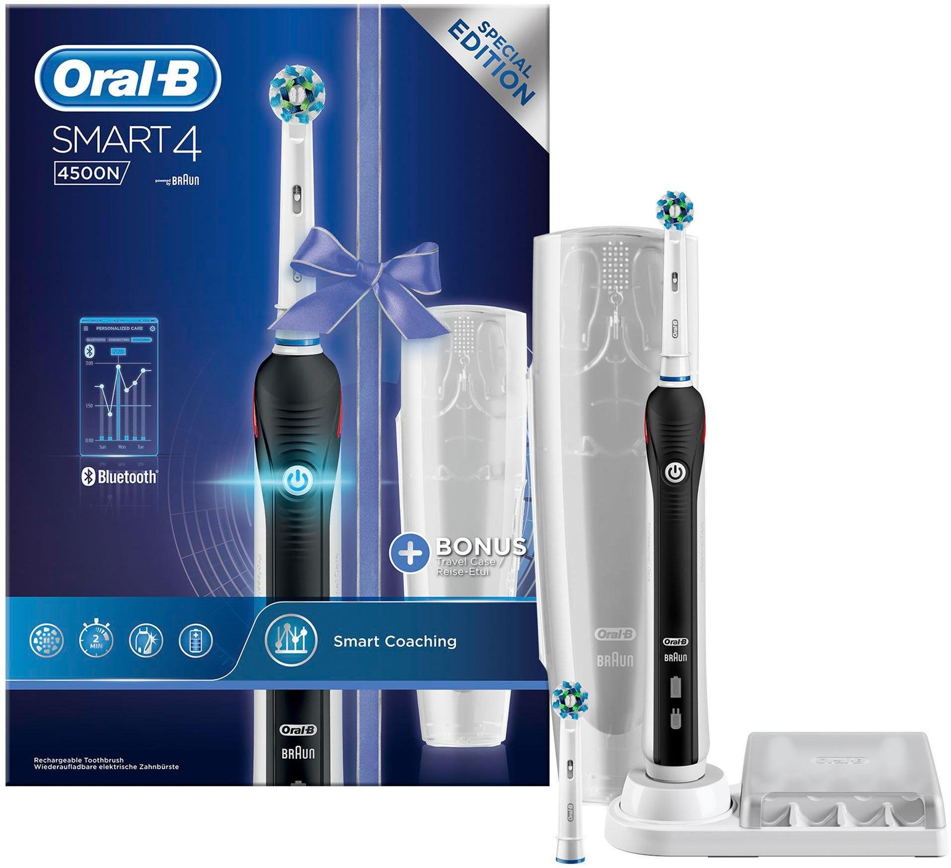 Oral-B Elektrische Zahnbürste Smart 4 4500N, Powered By Braun