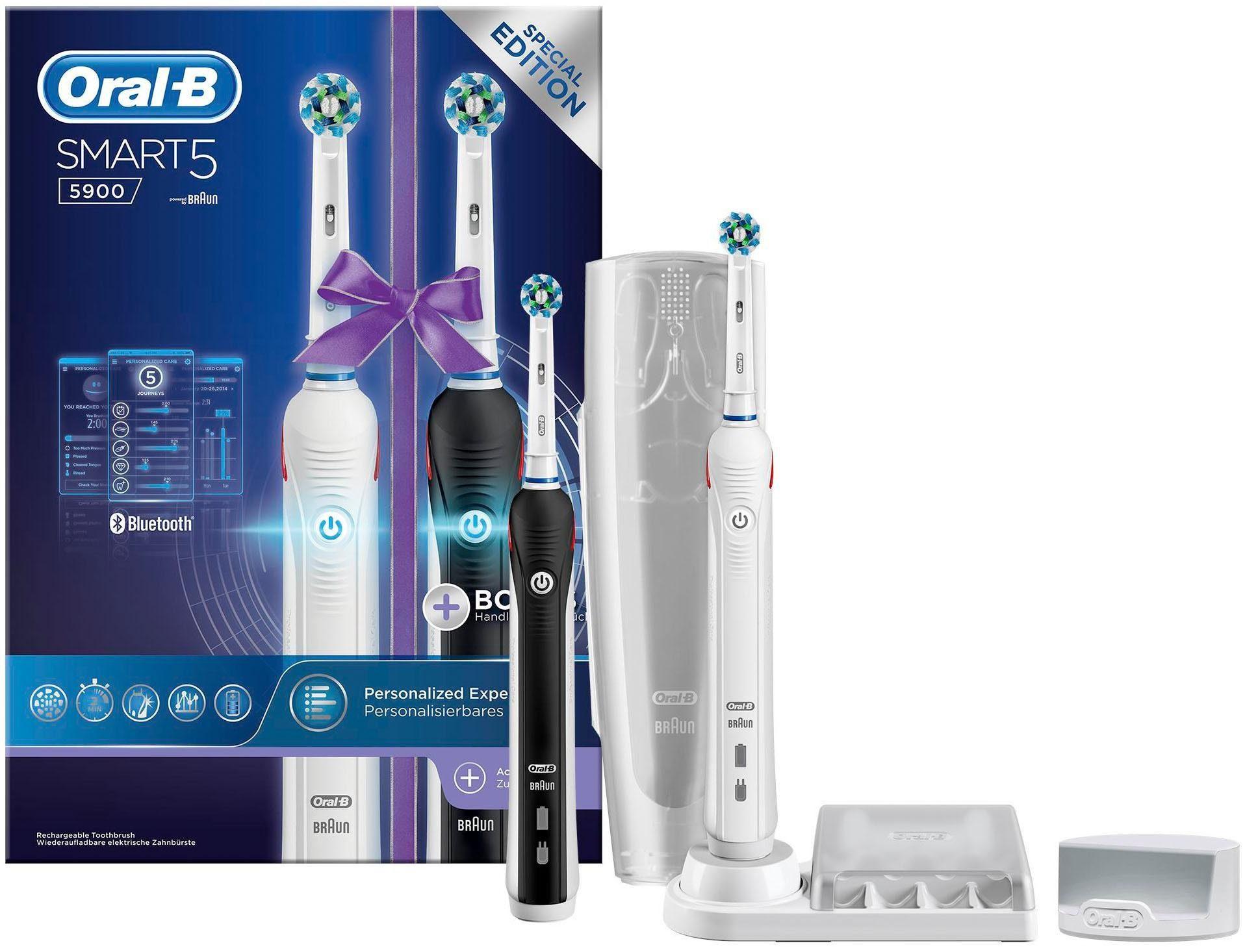 Oral-B Elektrische Zahnbürste Smart 5 5900, Powered By Braun, Duopack (2 Handstücke)