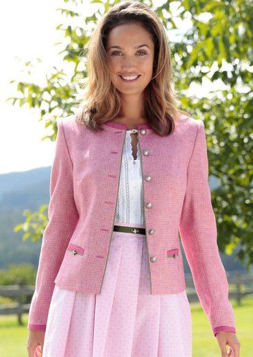 Hammer Schmid Costume Blazer Women From Linen With Application