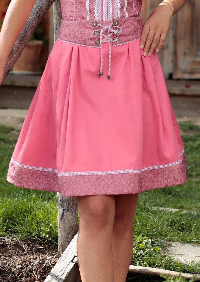 Damen Spieth & Wensky Feierlaune Trachtenrock mit Gürtel rosa   04059829273122