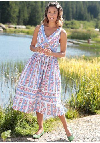 Damen Hohenstaufen Trachtenkleid Damen mit Blumenprint bunt,mehrfarbig | 04047899807941