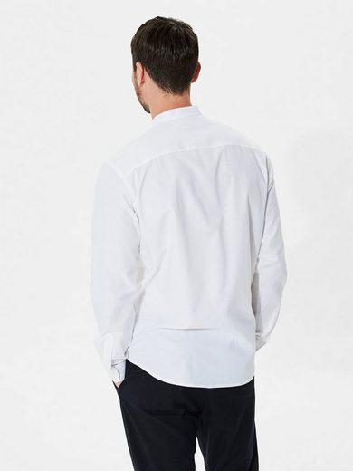 Selected Homme Mandarin-Kragen- Langarmhemd