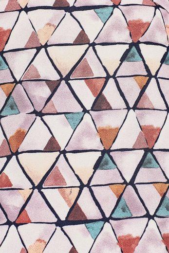 ESPRIT COLLECTION Fließendes Kleid mit grafischem Print