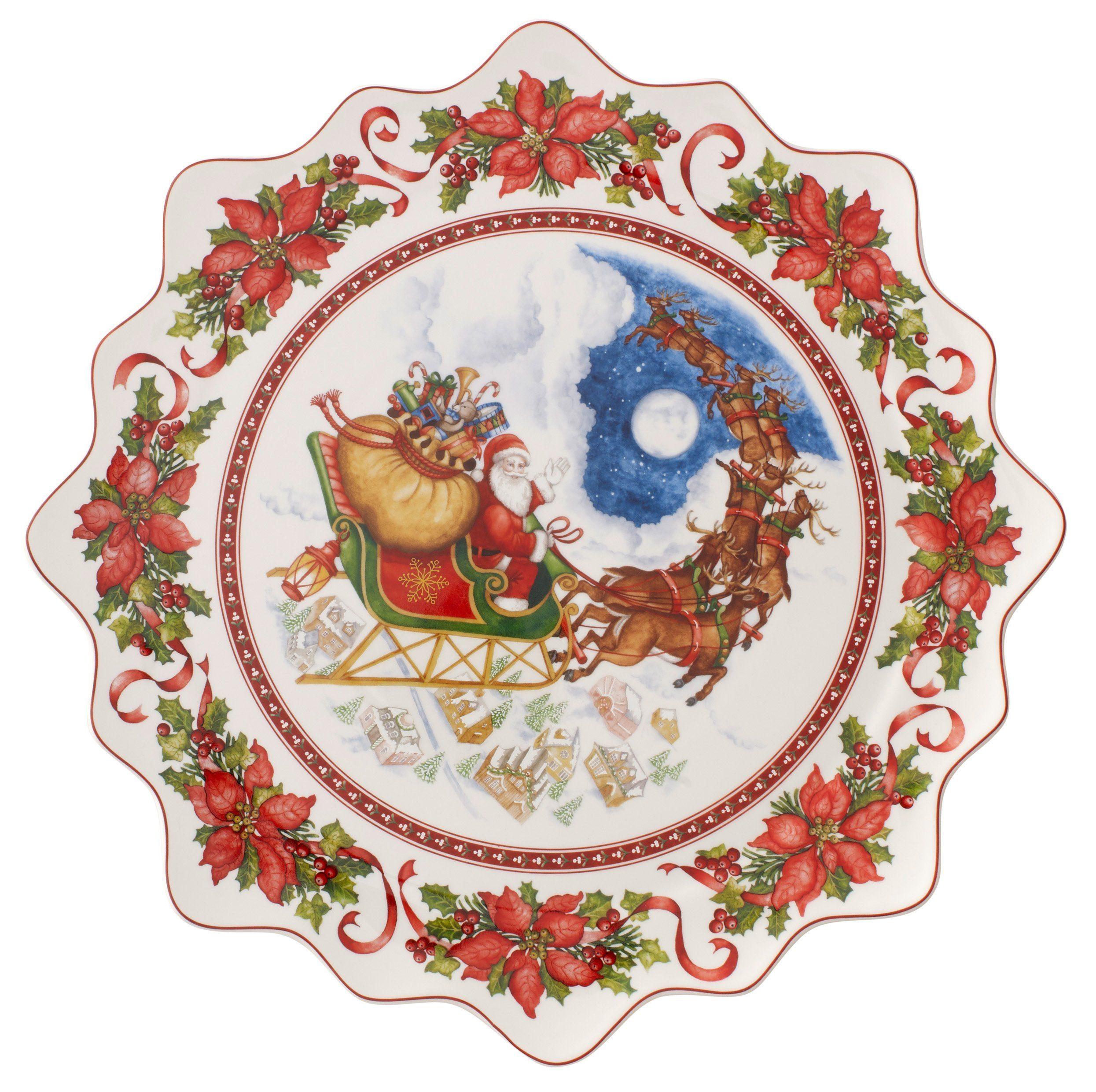 Villeroy & Boch Gebäckteller groß, Santas Flug »Toy's Fantasy«