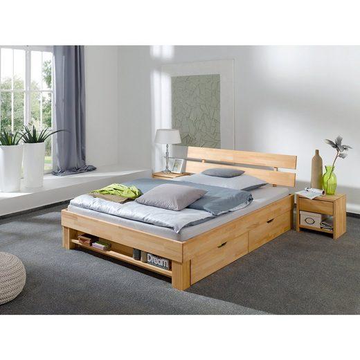 Relita Bettregal JULIA für 140 cm breite Betten, Kernbuche massiv