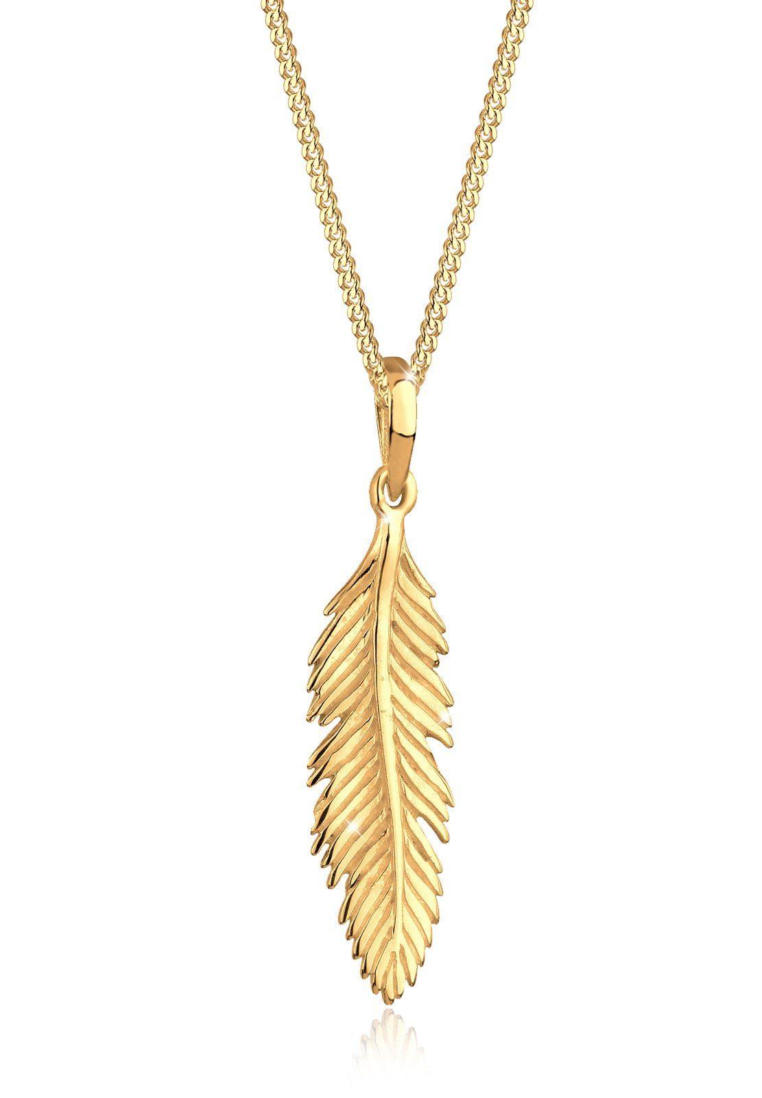 Elli Halskette »Feder Boho Gipsy Hippie 925 Sterling Silber Daria«